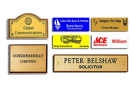 Corporate Signs, Badges, and Name Tags.