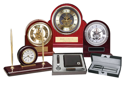 Wide Selection of Rosewood Clocks and Corporate Gifts.