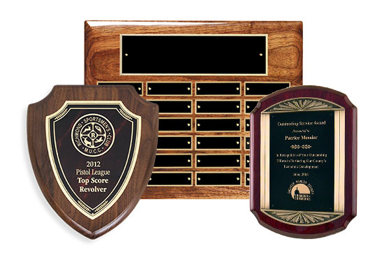 Wide Selection of Plaques and Shields.